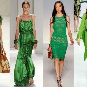 Модный зелёный цвет