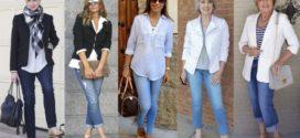 Как выглядеть модно и стильно в джинсах после 40
