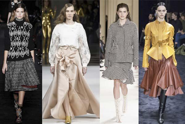 Модные юбки сезона осень-зима 2017-2018