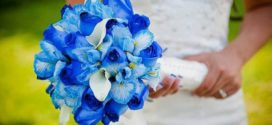 Бело-синяя свадьба