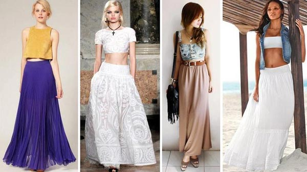 Длинные юбки в пол: модные тренды