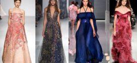Вечерние платья 2018: модные тенденции
