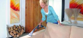 Почистить подлокотники мягкой мебели