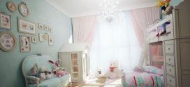 Как оборудовать детскую комнату для двух девочек?